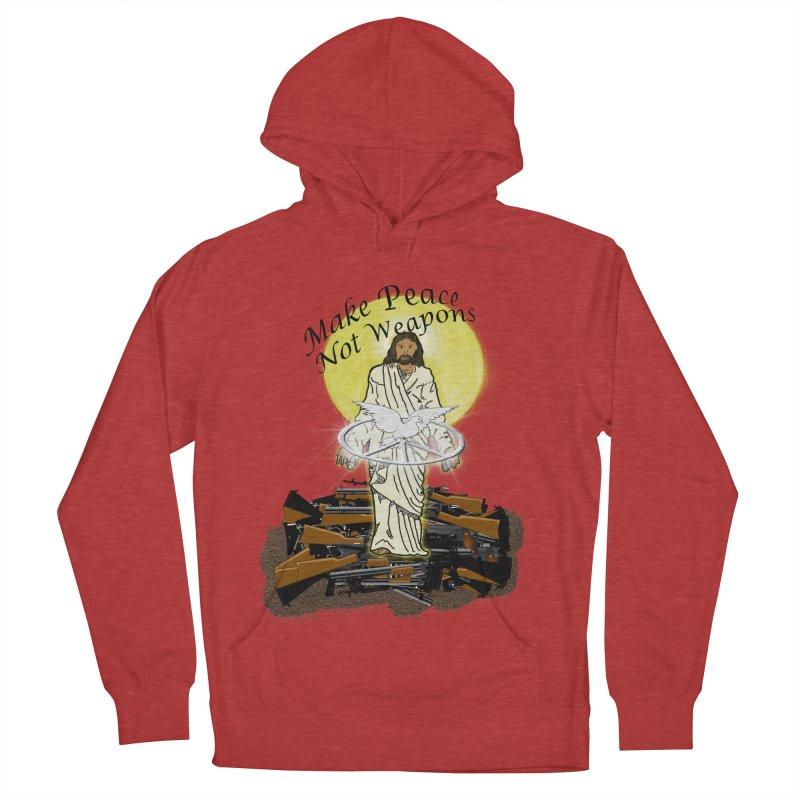 Jesus against Weapons Women's Pullover Hoody by nicolekieferdesign's Artist Shop
