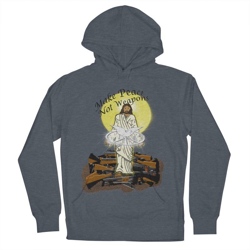 Jesus against Weapons Men's Pullover Hoody by nicolekieferdesign's Artist Shop