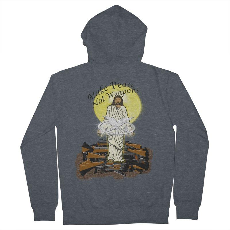 Jesus against Weapons Women's Zip-Up Hoody by nicolekieferdesign's Artist Shop