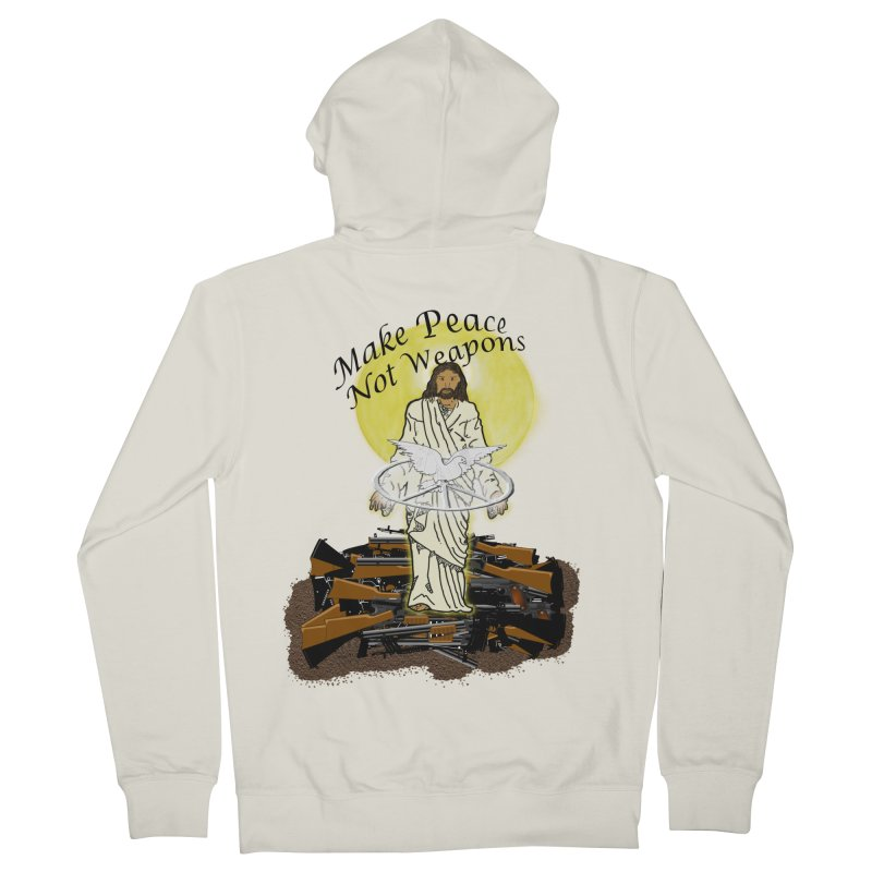 Jesus against Weapons Women's Zip-Up Hoody by nicolekieferdesign's Artist Shop