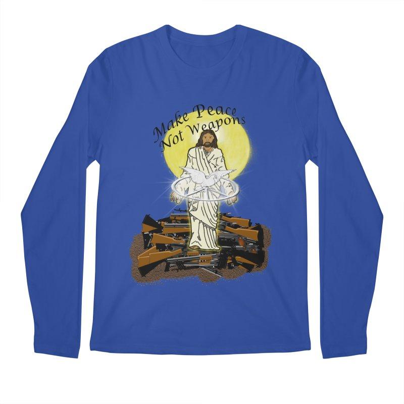 Jesus against Weapons Men's Longsleeve T-Shirt by nicolekieferdesign's Artist Shop