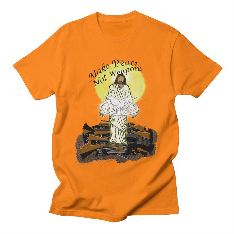 Jesus against Weapons Women's Unisex T-Shirt by nicolekieferdesign's Artist Shop