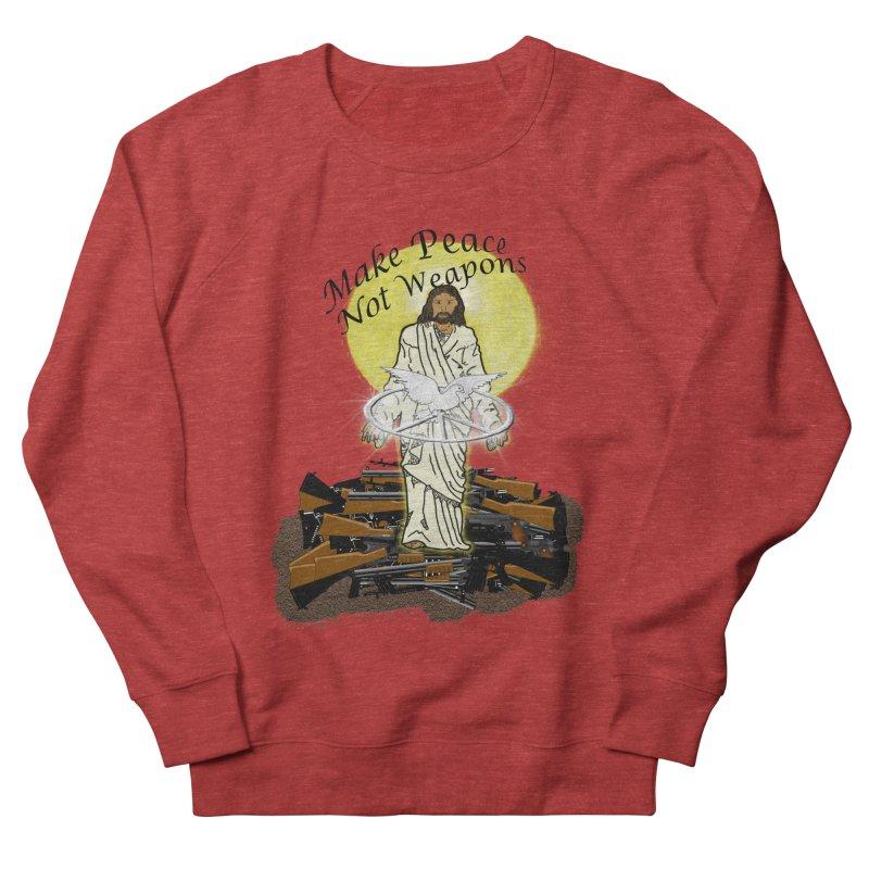 Jesus against Weapons Men's Sweatshirt by nicolekieferdesign's Artist Shop