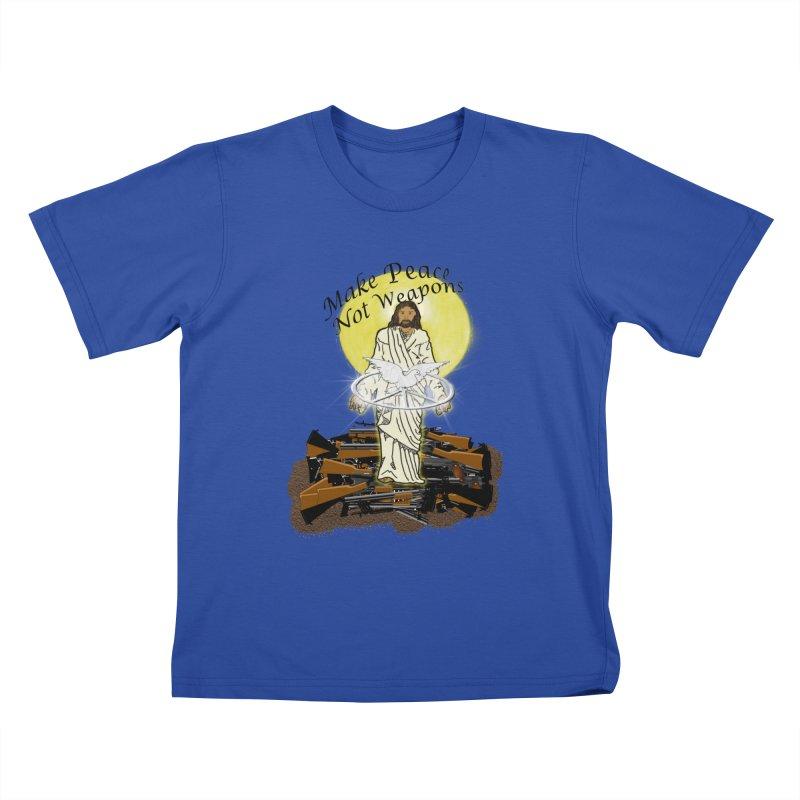 Jesus against Weapons Kids T-shirt by nicolekieferdesign's Artist Shop