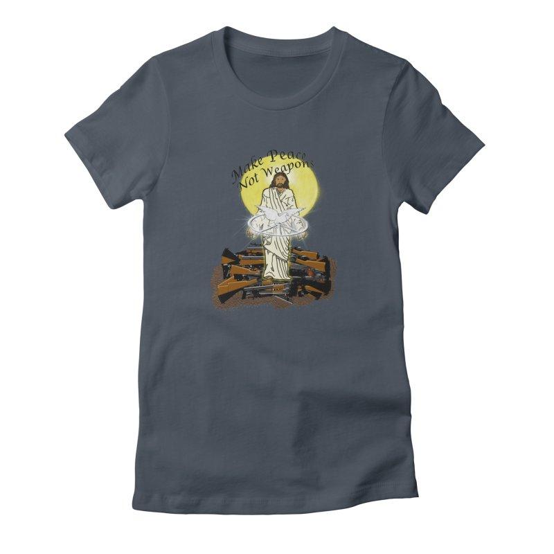 Jesus against Weapons Women's T-Shirt by nicolekieferdesign's Artist Shop