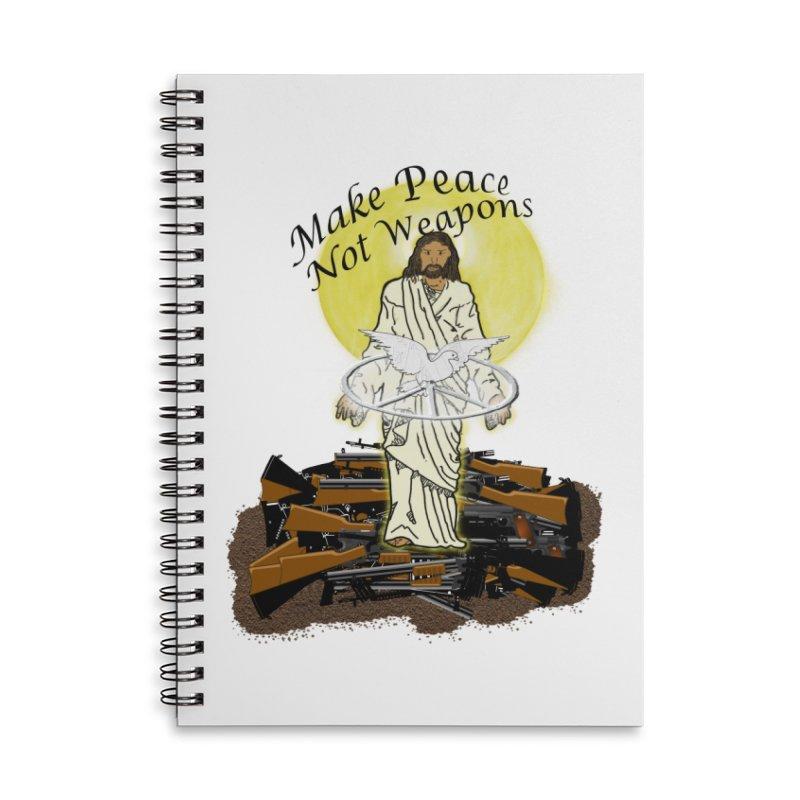 Jesus against Weapons Accessories Notebook by nicolekieferdesign's Artist Shop