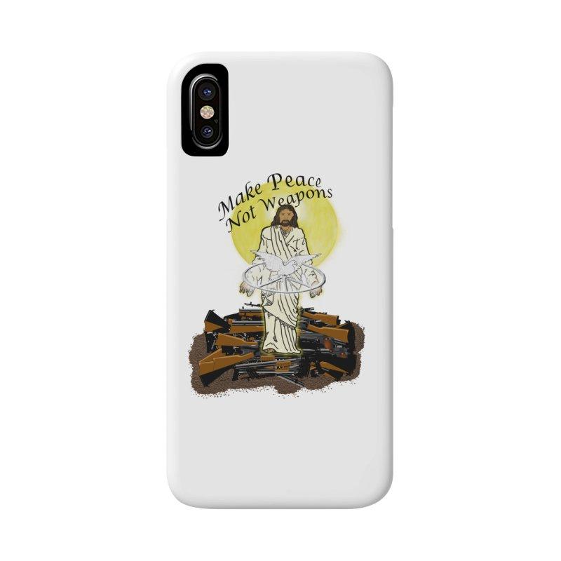 Jesus against Weapons Accessories Phone Case by nicolekieferdesign's Artist Shop