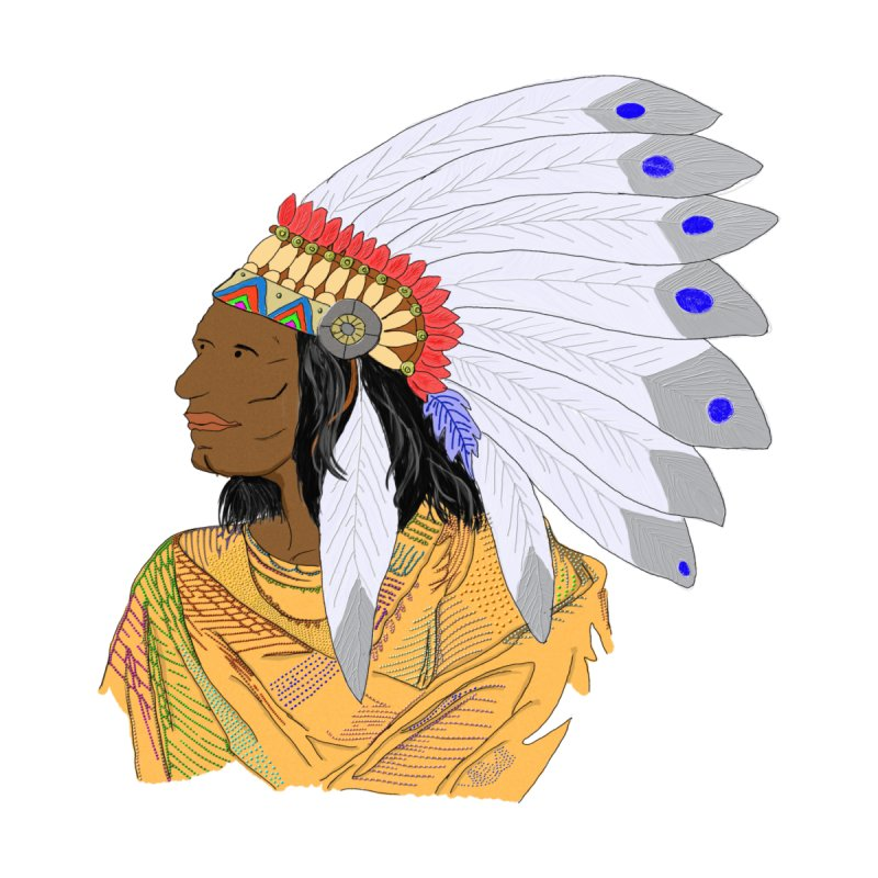 Native American Chieftain by nicolekieferdesign's Artist Shop