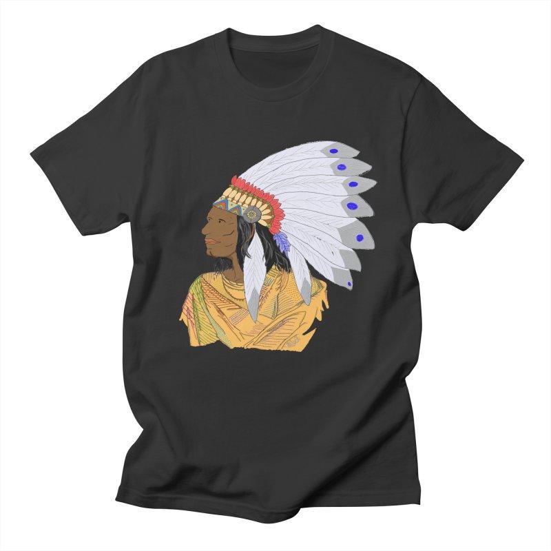Native American Chieftain Men's T-Shirt by nicolekieferdesign's Artist Shop