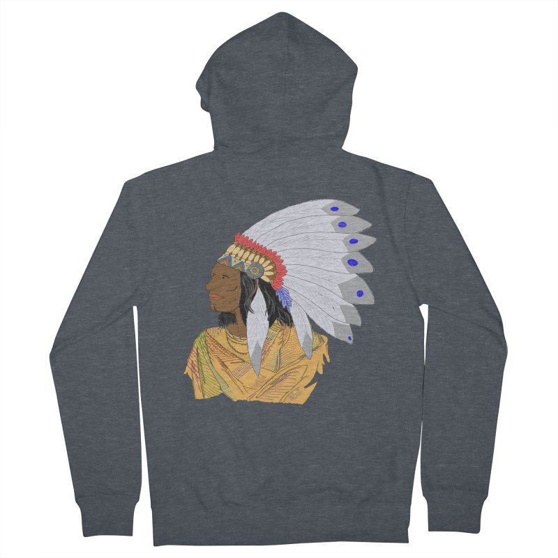 Native American Chieftain Men's Zip-Up Hoody by nicolekieferdesign's Artist Shop