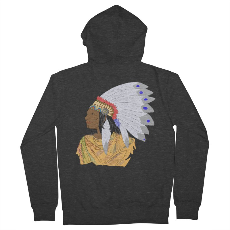 Native American Chieftain Men's Zip-Up Hoody by nicolekieferdesign's Artist Shop