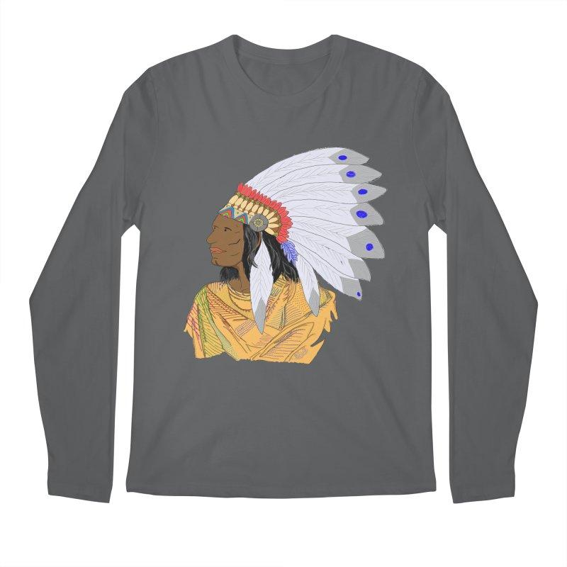 Native American Chieftain Men's Longsleeve T-Shirt by nicolekieferdesign's Artist Shop
