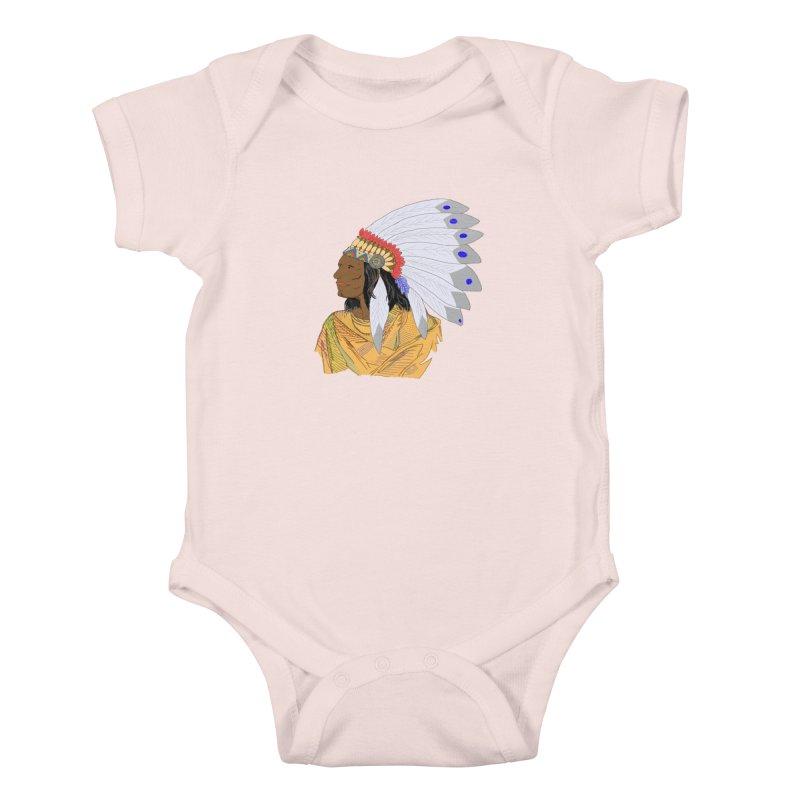 Native American Chieftain Kids Baby Bodysuit by nicolekieferdesign's Artist Shop