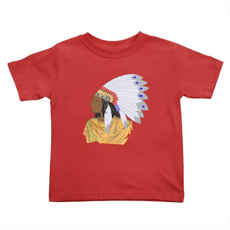 Native American Chieftain Kids Toddler T-Shirt by nicolekieferdesign's Artist Shop
