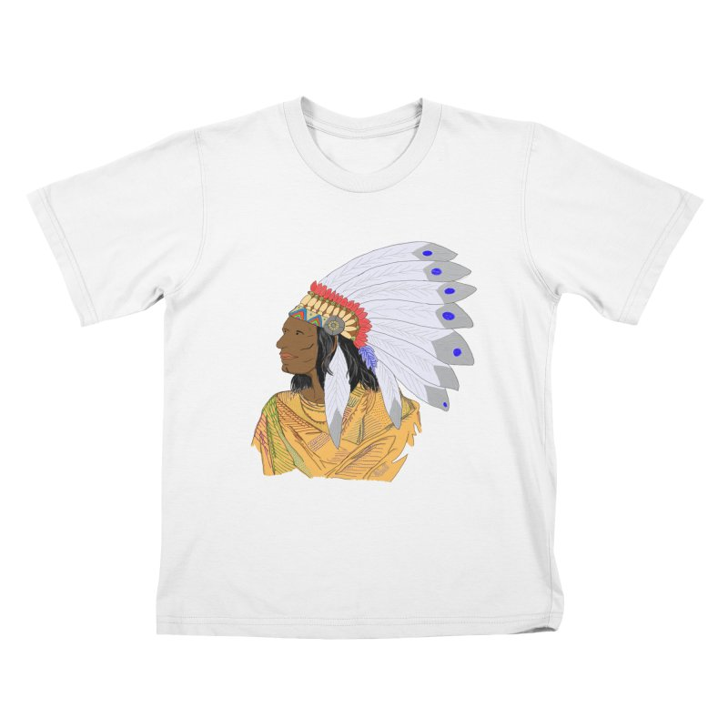 Native American Chieftain Kids T-shirt by nicolekieferdesign's Artist Shop