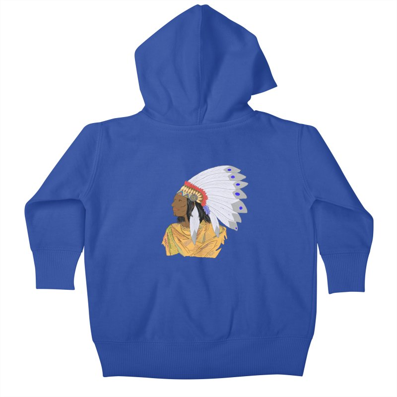 Native American Chieftain Kids Baby Zip-Up Hoody by nicolekieferdesign's Artist Shop