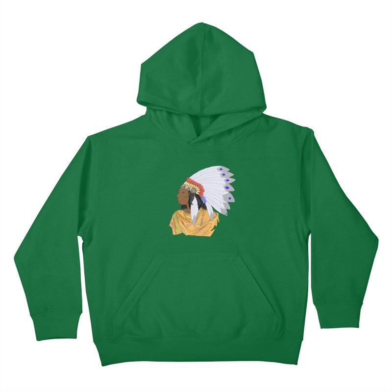 Native American Chieftain Kids Pullover Hoody by nicolekieferdesign's Artist Shop