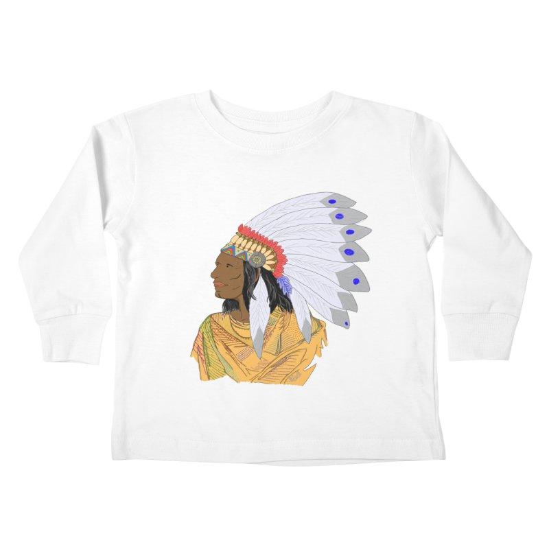 Native American Chieftain Kids Toddler Longsleeve T-Shirt by nicolekieferdesign's Artist Shop