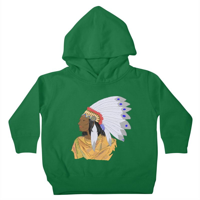 Native American Chieftain Kids Toddler Pullover Hoody by nicolekieferdesign's Artist Shop