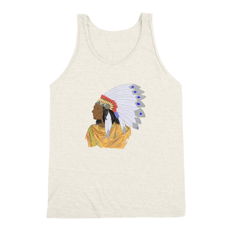 Native American Chieftain Men's Triblend Tank by nicolekieferdesign's Artist Shop