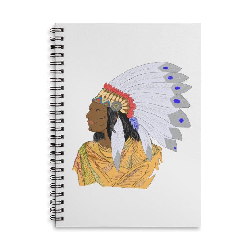 Native American Chieftain Accessories Notebook by nicolekieferdesign's Artist Shop