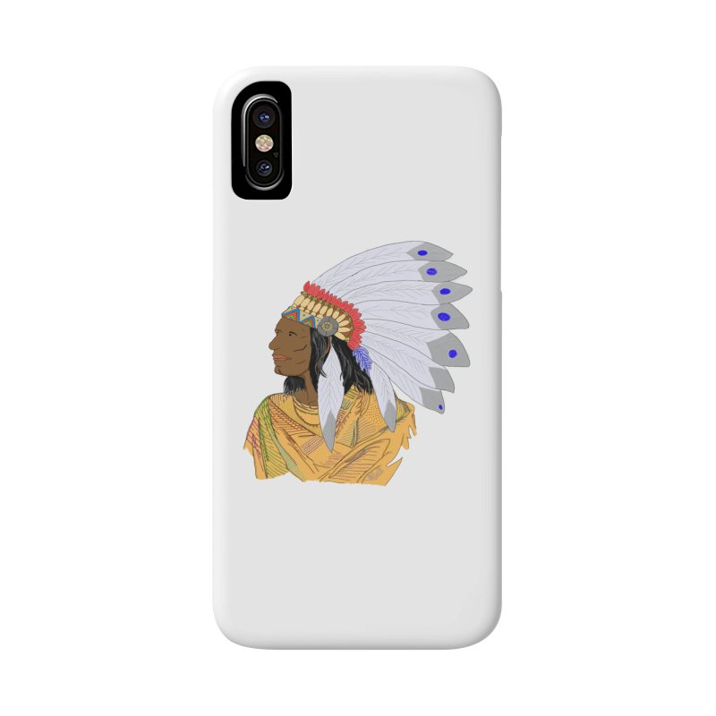 Native American Chieftain Accessories Phone Case by nicolekieferdesign's Artist Shop