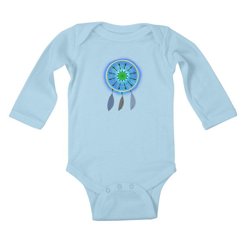 Dreamcatcher Kids Baby Longsleeve Bodysuit by nicolekieferdesign's Artist Shop