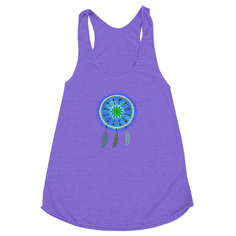 Dreamcatcher Women's Racerback Triblend Tank by nicolekieferdesign's Artist Shop