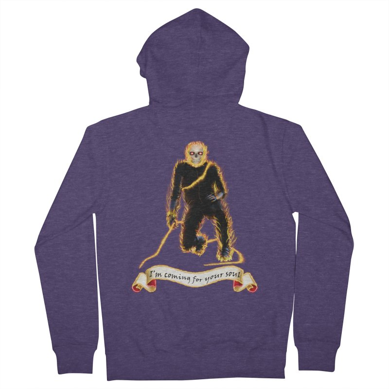 Ghost Rider with Chain Men's Zip-Up Hoody by nicolekieferdesign's Artist Shop