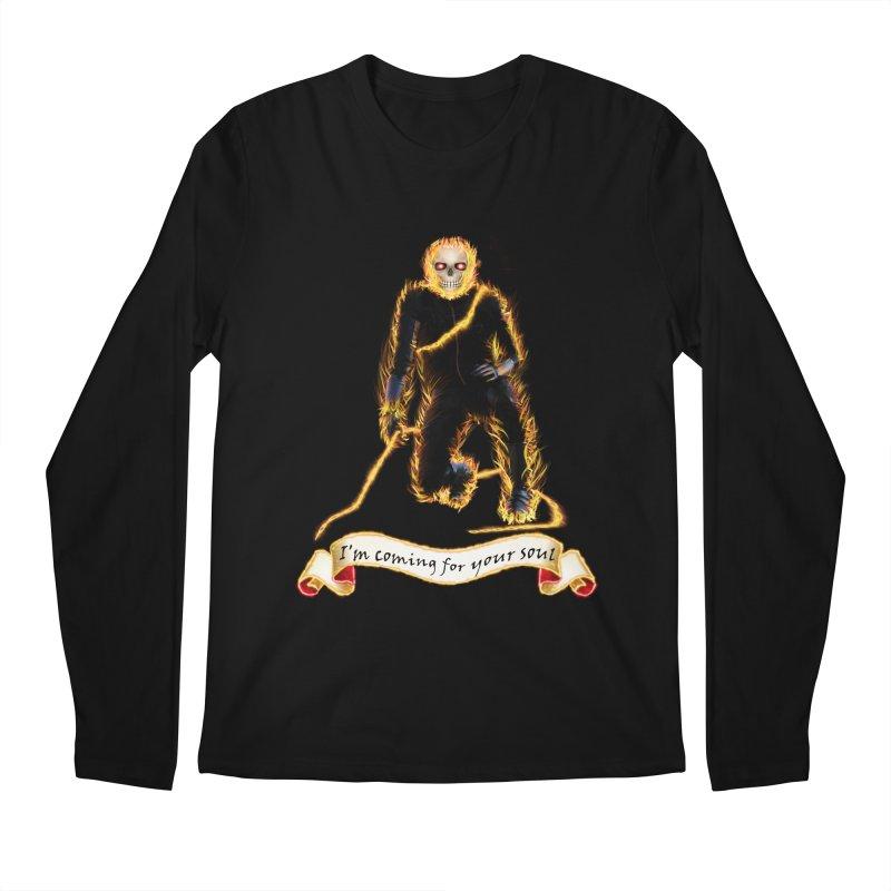 Ghost Rider with Chain Men's Longsleeve T-Shirt by nicolekieferdesign's Artist Shop