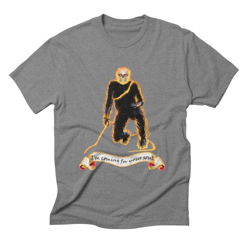 Ghost Rider with Chain Men's Triblend T-Shirt by nicolekieferdesign's Artist Shop