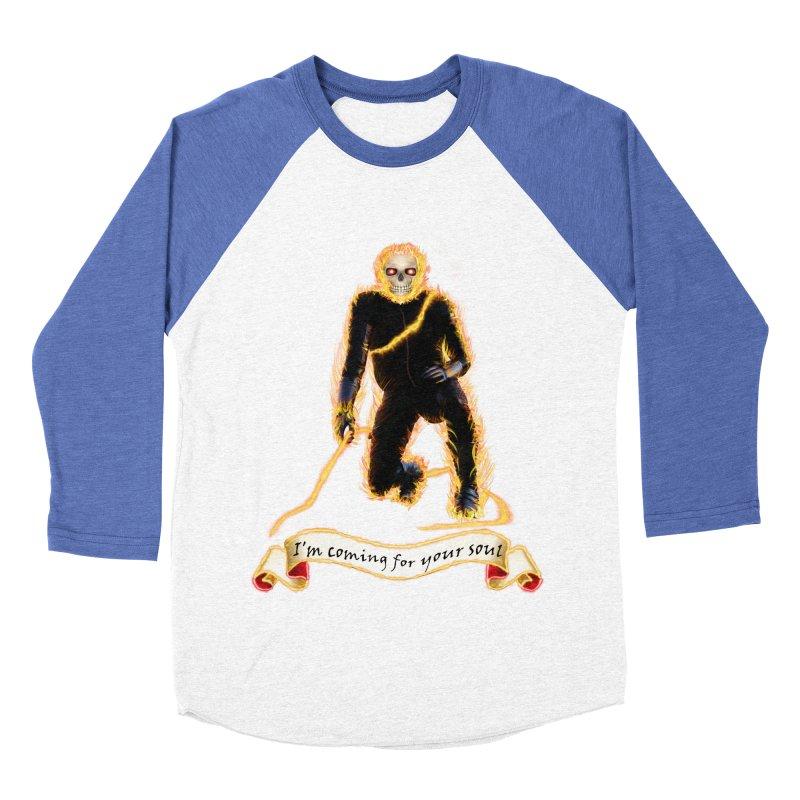 Ghost Rider with Chain Women's Baseball Triblend T-Shirt by nicolekieferdesign's Artist Shop