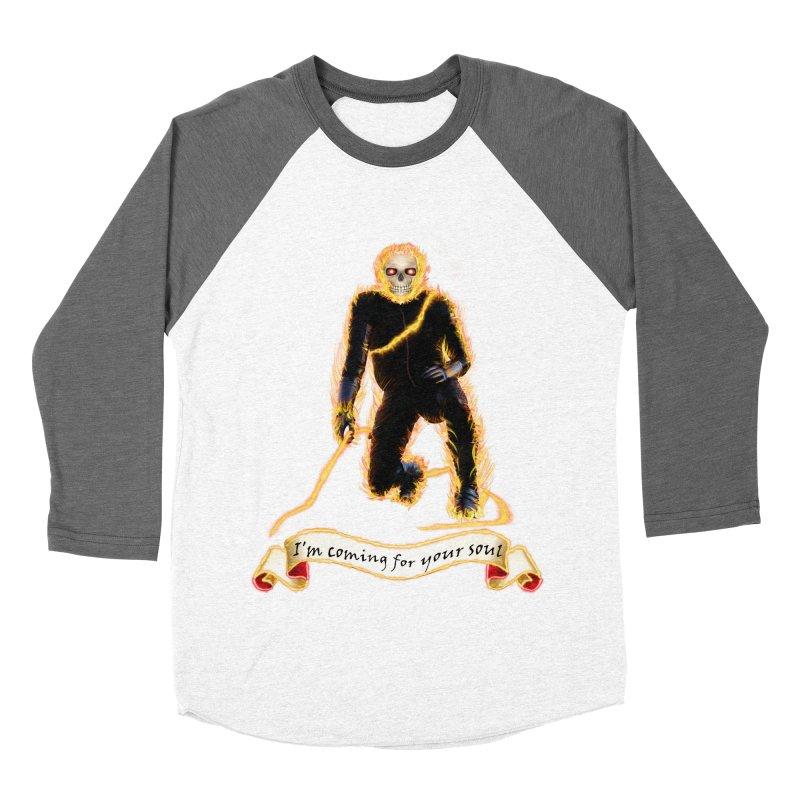 Ghost Rider with Chain Men's Baseball Triblend T-Shirt by nicolekieferdesign's Artist Shop