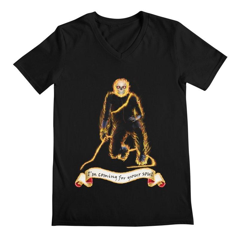 Ghost Rider with Chain Men's V-Neck by nicolekieferdesign's Artist Shop