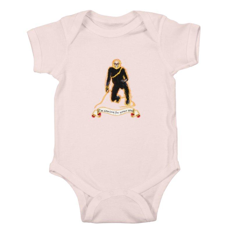 Ghost Rider with Chain Kids Baby Bodysuit by nicolekieferdesign's Artist Shop
