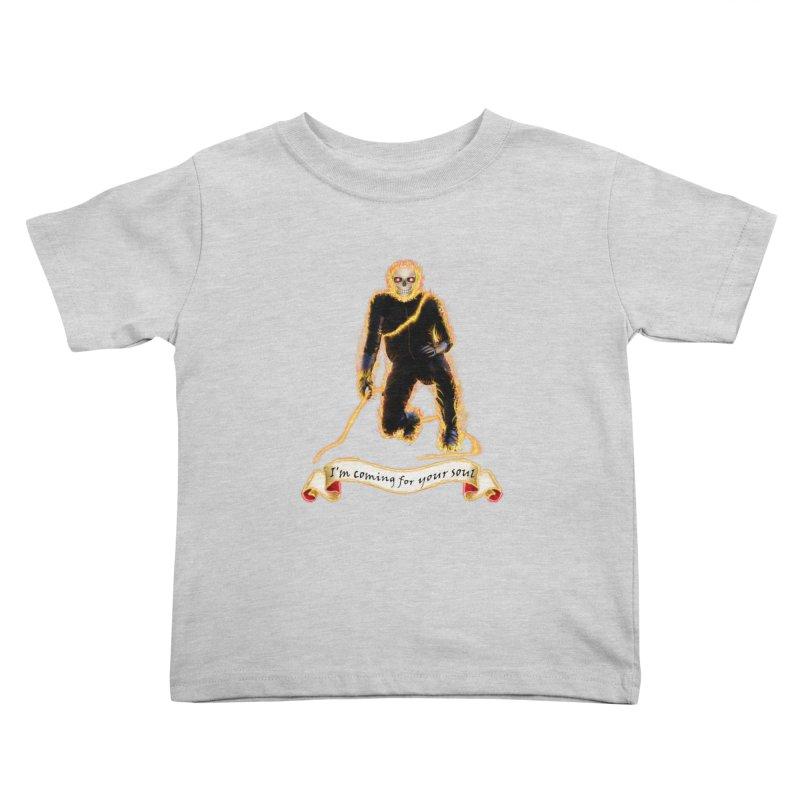 Ghost Rider with Chain Kids Toddler T-Shirt by nicolekieferdesign's Artist Shop