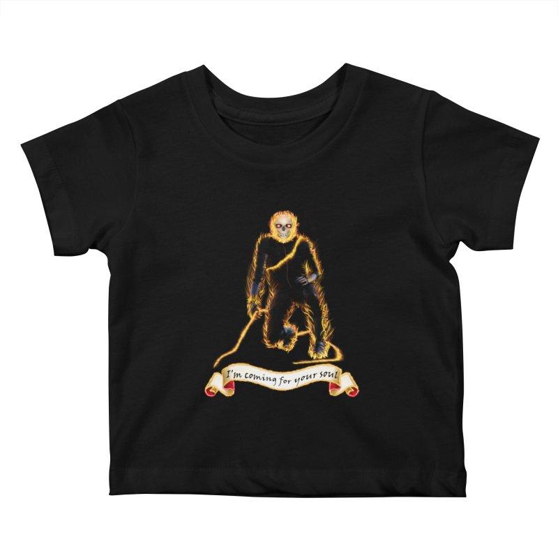 Ghost Rider with Chain Kids Baby T-Shirt by nicolekieferdesign's Artist Shop