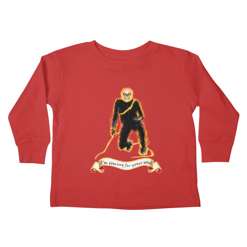 Ghost Rider with Chain Kids Toddler Longsleeve T-Shirt by nicolekieferdesign's Artist Shop