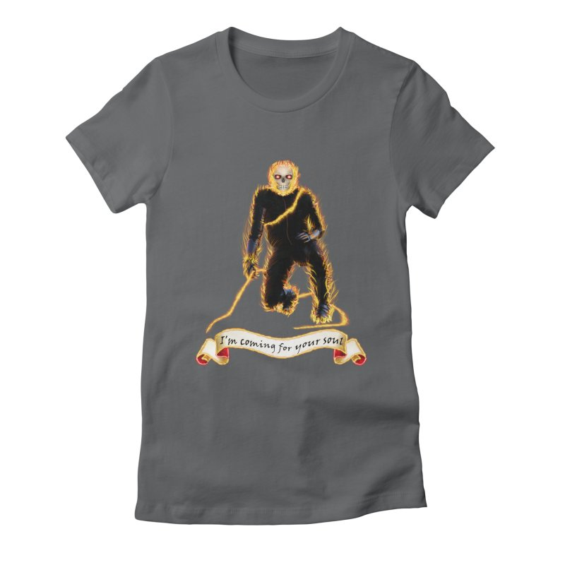 Ghost Rider with Chain Women's Fitted T-Shirt by nicolekieferdesign's Artist Shop