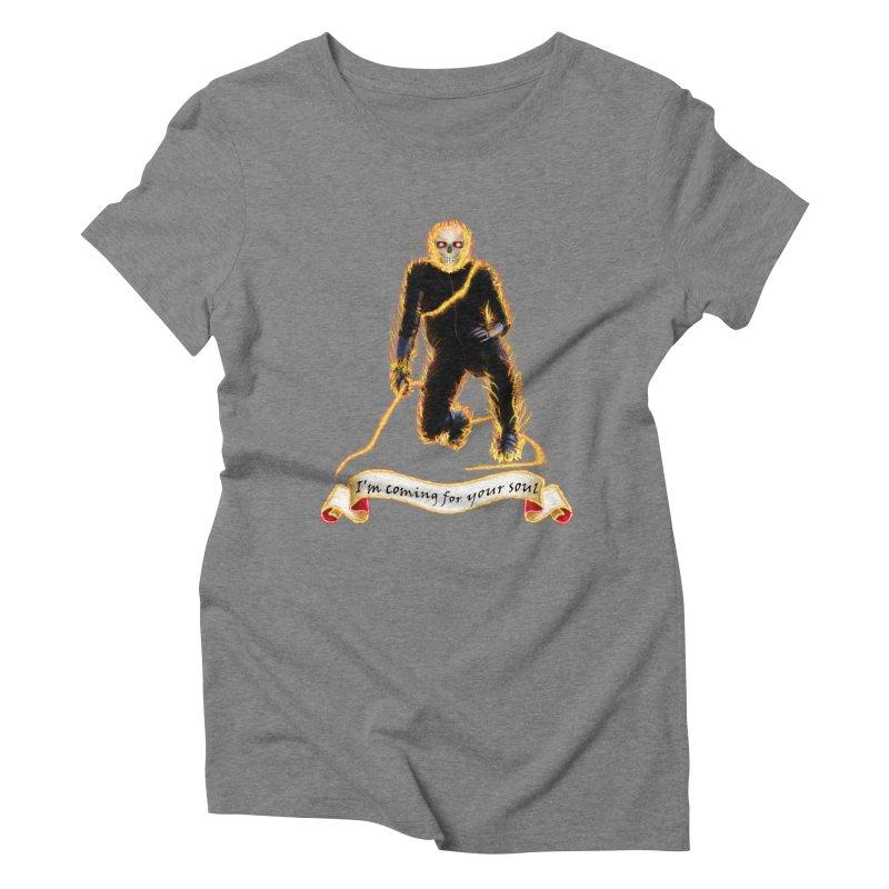 Ghost Rider with Chain Women's Triblend T-shirt by nicolekieferdesign's Artist Shop
