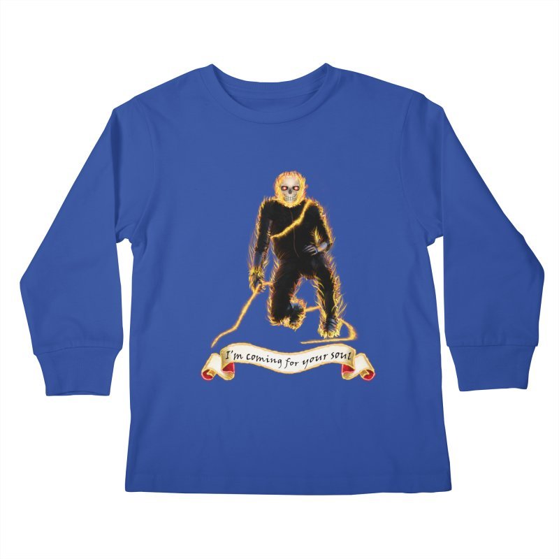 Ghost Rider with Chain Kids Longsleeve T-Shirt by nicolekieferdesign's Artist Shop