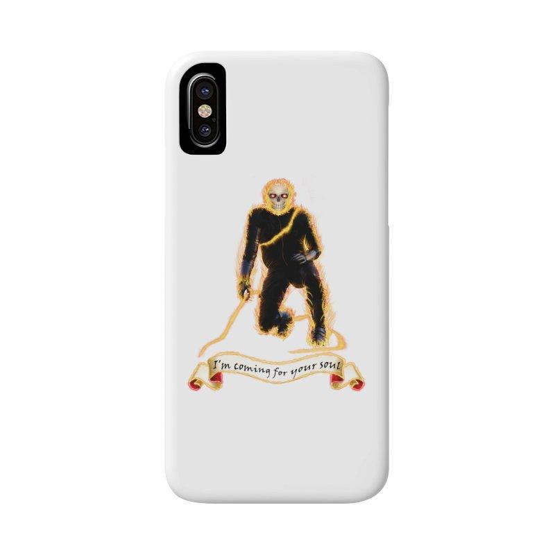 Ghost Rider with Chain Accessories Phone Case by nicolekieferdesign's Artist Shop
