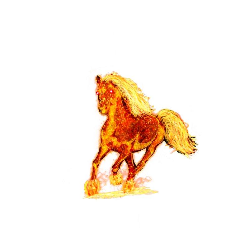 Flaming Horse None  by nicolekieferdesign's Artist Shop
