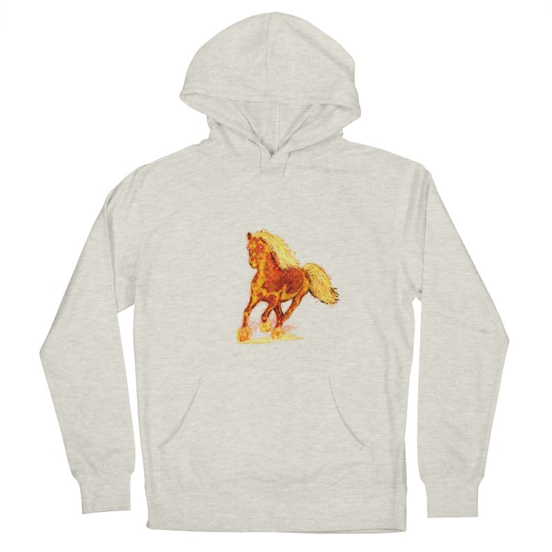Flaming Horse Women's Pullover Hoody by nicolekieferdesign's Artist Shop