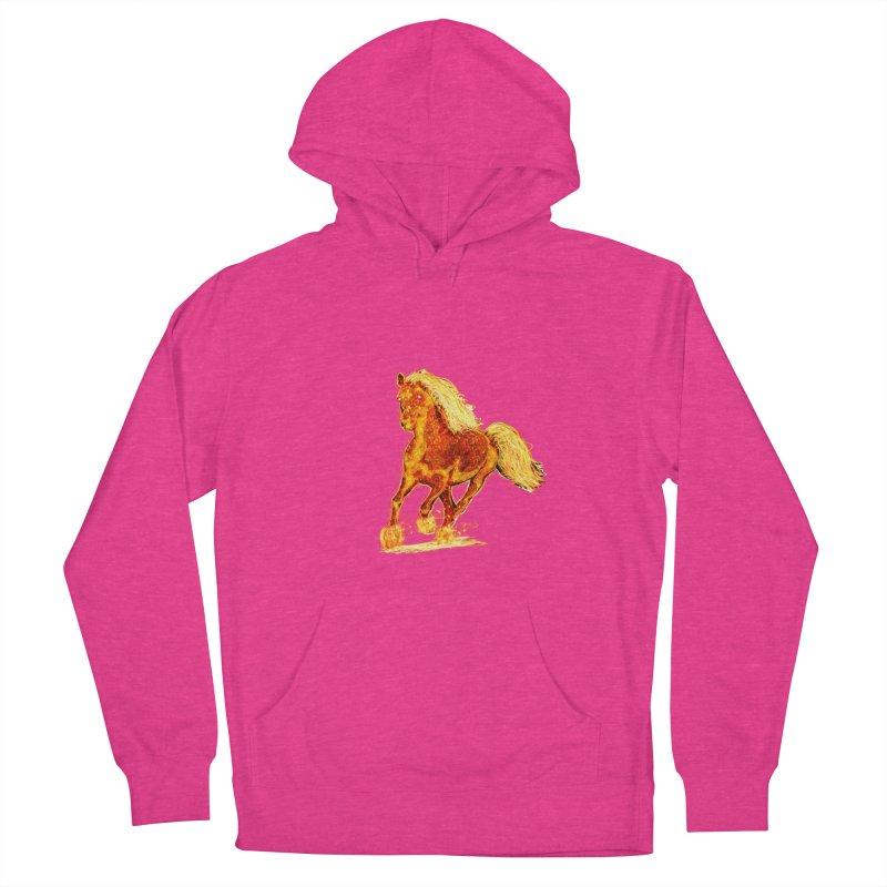 Flaming Horse Women's Pullover Hoody by nicolekieferdesign's Artist Shop