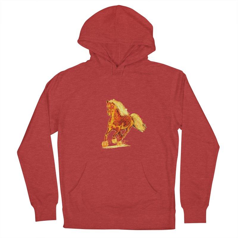 Flaming Horse Men's Pullover Hoody by nicolekieferdesign's Artist Shop