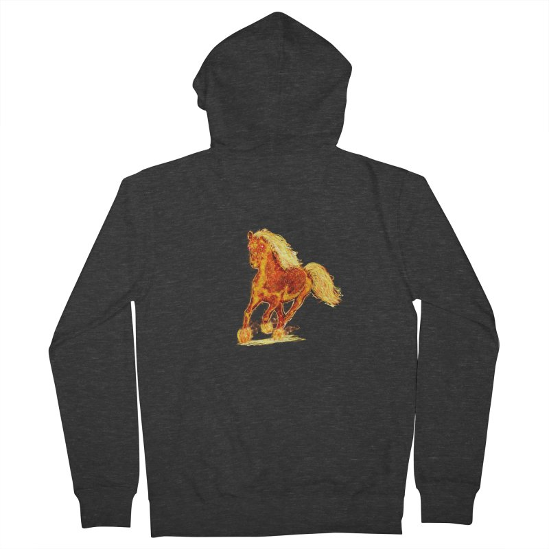 Flaming Horse Women's Zip-Up Hoody by nicolekieferdesign's Artist Shop