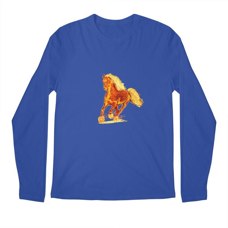 Flaming Horse Men's Longsleeve T-Shirt by nicolekieferdesign's Artist Shop