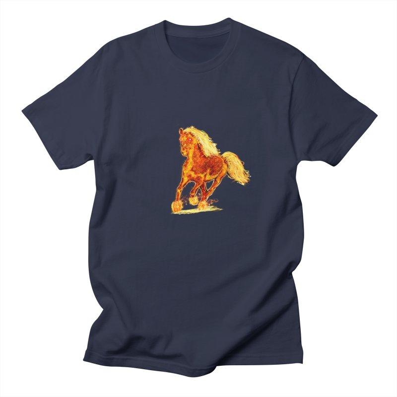 Flaming Horse Women's Unisex T-Shirt by nicolekieferdesign's Artist Shop