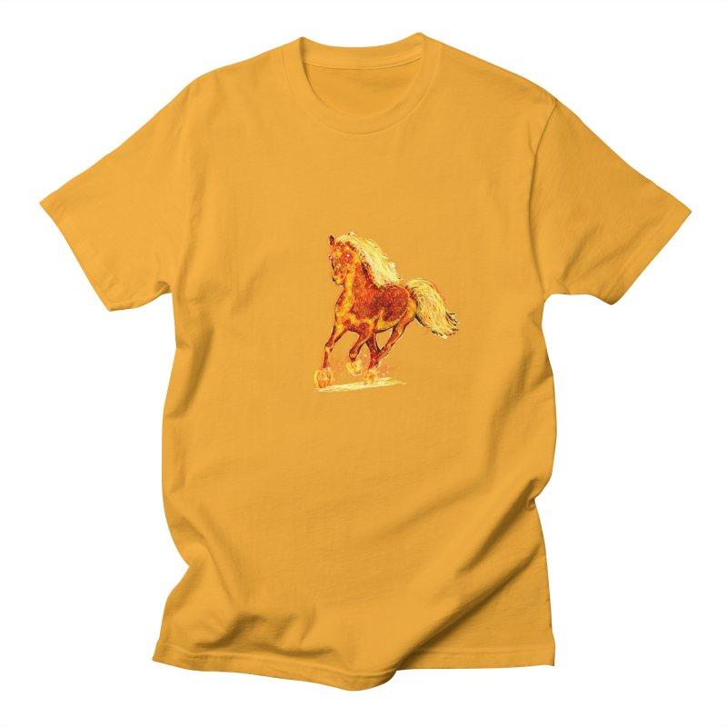 Flaming Horse Men's T-Shirt by nicolekieferdesign's Artist Shop